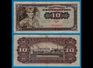 Jugoslawien - Yugoslavia 10 Dinara Banknote 1965 F (4) Pick 78 (18307