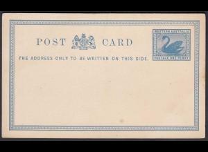 Western Australia Postal Stationery POSTCARD Swan One Penny unused (24093
