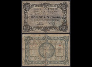 Frankreich - France - 1 Franc 1914/18 Poix-Terron Lokal Banknote (24244