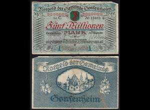 Gonsenheim (Mainz) 5-Million Mark Notgeld 1923 (24256