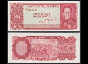 Bolivien - Bolivia 100 Bolivianos 1962 XF (2) Pick 164c (24260