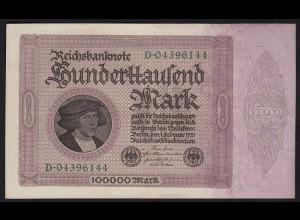 Reichsbanknote - 100000 100.000 Mark 1923 Ro 82 XF (2) Pick 83 (24314
