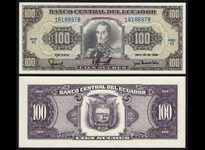ECUADOR 100 SUCRES 20-4-1990 VU PICK 123 UNC (1) (24315