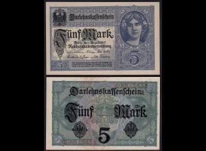 Darlehenskassenschein 5 Mark 1917 Reichsschuldenverwaltung aUNC (1-) Ro.54a