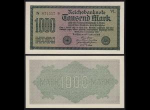 Reichsbanknote 1000 Mark 1923 Pick 76d Ro.75k UNC (1) 6-stellig FZ=VL (24326