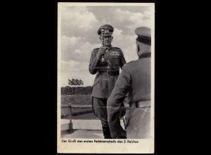 AK NS Propaganda Karte 3.Reich Gruss 1.Feldmarschall (8372