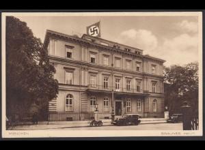 AK NS Propaganda Karte 3.Reich Braunes Haus München mit Fahne (8373