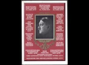 AK NS Propaganda Karte 3.Reich Hitler´s Pläne zum 50.Geburtstag (8376