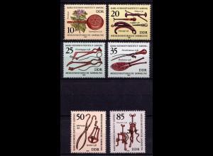 DDR Mi. 2640/5 ** Medinzinhistorische Sammlung Satz (7160