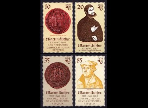 DDR Mi. 2754/57 ** Satz 1983 Martin Luther (7159