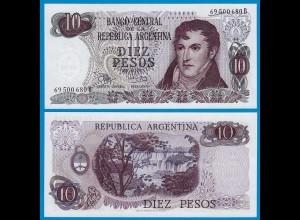 Argentinien - Argentina 10 Pesos UNC (1) 1970-73 Pick 289 (18668