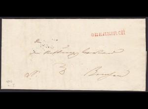 Baden - 1847 Brief OBERKIRCH L1r nach RENCH K2s (15873