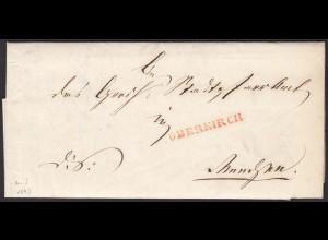 Baden - 1843 Brief OBERKIRCH L1r nach RENCHEN K2s (15874