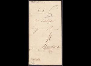Baden - 1838 Brief Doppelverwendung Schoppenheim-Sekingen-Mambach(15875