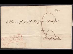 Baden - 1849 Umschlag OFFENBURG R2r nach CARLSRUHE R2 (15877