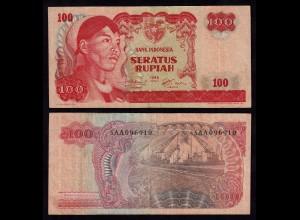 INDONESIEN - INDONESIA 100 RUPIAH Banknote 1968 VF (3) Pick 108 (17916