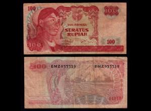 INDONESIEN - INDONESIA 100 RUPIAH Banknote 1968 F (4) Pick 108 (17917