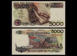 INDONESIEN - INDONESIA 5000 RUPIAH Banknote 1992/1992 Pick 130a VF+ (3+)