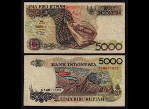 INDONESIEN - INDONESIA 5000 RUPIAH Banknote 1992/1992 Pick 130a F (4)
