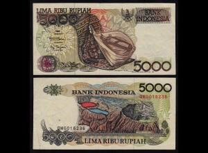 INDONESIEN - INDONESIA 5000 RUPIAH Banknote 1992/1993 Pick 130b VF (3)