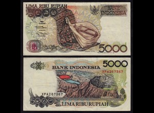 INDONESIEN - INDONESIA 5000 RUPIAH Banknote 1992/1995 Pick 130d VF (3)