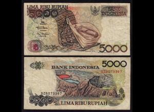INDONESIEN - INDONESIA 5000 RUPIAH Banknote 1992/1995 Pick 130d VG (5)