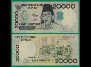 Indonesien - Indonesia 20000 20.000 Rupiah 1998/2003 Pick 138f VF (3) (17962
