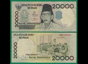 Indonesien - Indonesia 20000 20.000 Rupiah 1998/2001 Pick 138d VF (3) (17963
