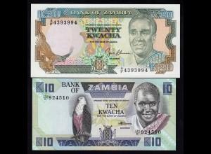 Sambia - Zambia - 2 Stück 10,20 Kwacha UNC (1) (17970