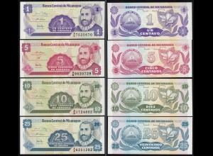 NICARAGUA 1,5,10,25 CENTAVOS 1991 UNC (1) (15833