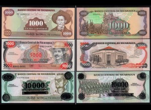 Nikaragua - Nicaragua 1000,5000,10.000 Cordobas 1985/89 UNC (1) (15834