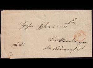 Baden - ELCHINGEN R2r Brief mit Erzbischöfliches Ordinadiats Beschluss 1849