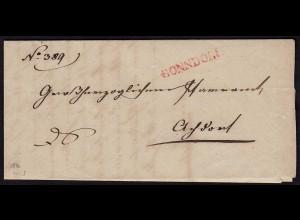 Baden - BONNDORF L2r Brief von 1846 mit Inhalt (15845
