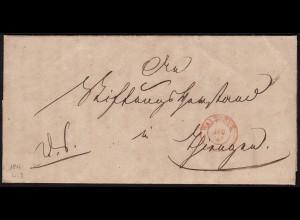 Baden - WALDSHUT K2r alter Brief mit interessanten Inhalt 1847 (15847