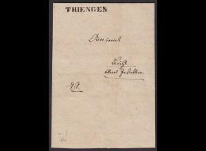 Baden - THIENGEN L1 alter Brief mit interessanten Inhalt 1840 (15849