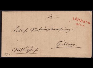 Baden - 1844 LÖRRACH L2r SÄCKINGEN L1r Doppelverwendung Inhalt (15850