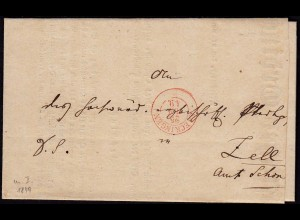 Baden - 1849 SAECKINGEN K2r Brief Erzbischöfliches Ordinadiats Beschluss (15852