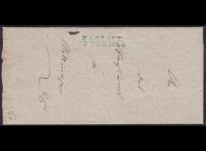 Baden - 1825 Brief RASTATT L2b mit Inhaltn (15853