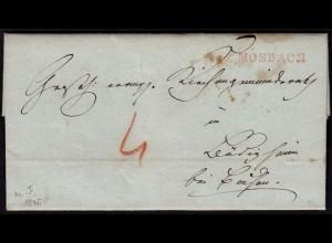Baden - 1840 Brief MOSBACH roter L1 mit Inhalt WZ Papier von UEBELHOER (15872