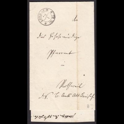 Baden - 1837 Brief LÖRRACH schw.R2 mit G.B. mit Inhalt (15871