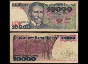 Polen - Poland 10000 10.000 Zloty Banknote 1987 Pick 151a VG (5) (15128