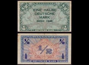 BDL - 1/2 Deutsche Mark 1948 Ro. 230 VF (3) (15111