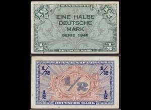 BDL - 1/2 Deutsche Mark 1948 Ro. 230 VF (3) (15096