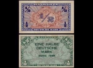 BDL - 1/2 Deutsche Mark 1948 Ro. 230 VF (3) (14675