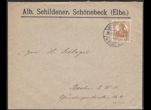 Reklame Brief Schönebeck DR Mi. 100a gepr. Infla EF (20452