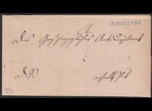 Baden - 1852 Brief blauen Stempel IESTETTEN L1b mit Inhalt (15861