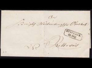 Baden - Umschlag STOCKACH R2 nach ROTTWEIL K1 (15859