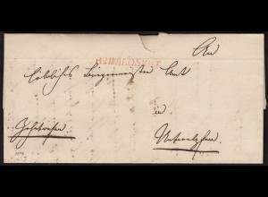 Baden - 1840 Brief mit roten R2 Stempel WALDSHUT mit Inhalt (15856