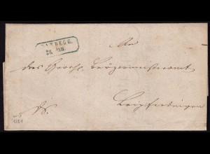Baden - 1855 Brief vom Hauptsteueramt RANDEGG R2b mit Inhalt (15855