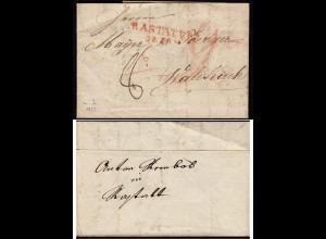 Baden - 1822 Brief RASTATT L2r nach WALDKICH mit Inhalt (15854